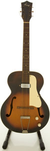 Musical Instruments:Electric Guitars, Circa late 1950's Kay Sunburst Archtop Electric Guitar....