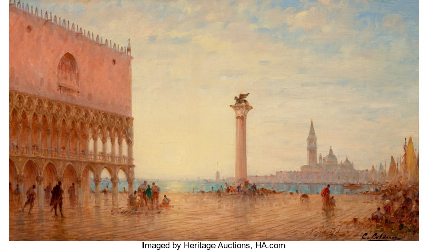 CHARLES-CLEMENT CALDERON (French, 1870-1906). View Of The | Lot ...