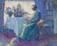 HARRIETTE BOWDOIN (American, 1880-1947) Morning Shadow and Sunlight Oil on canvas 21 x 26 inches