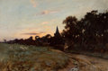 Fine Art - Painting, European, JOSEPH MILNE (British, 1857-1911). Twilight, 1895. Oil on canvas. 24 x 36 inches (61.0 x 91.4 cm). Signed lower right: ...