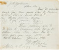 "Autographs:Military Figures, [Indian Wars]. William P. Clark Autograph Letter Signed ""W. P. Clark.""..."