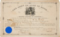 """Autographs:U.S. Presidents, James A. Garfield Appointment Signed """"J. A. Garfield"""" as Commander-in-Chief of The Army of the Boys in Blue...."""