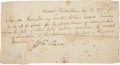 "Autographs:Statesmen, Alexander Hamilton Autograph Receipt Twice Signed ""AlexanderHamilton"" as Secretary of the Treasury...."