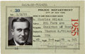 Autographs:Celebrities, [Thomas Edison]. Charles Edison Pistol License Signed and relateddocuments....