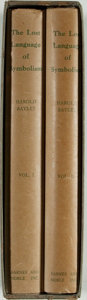 Books:Philosophy, Harold Bayley. The Lost Language of Symbolism. New York: Barnes & Noble, [1952]. Reprint. Two octavo volumes. Publis... (Total: 2 Items)