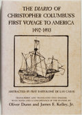 Books:Americana & American History, [Christopher Columbus, subject]. Fray Bartolome de las Casas.The Diario of Christopher Columbus's First Voyage toAmeri...