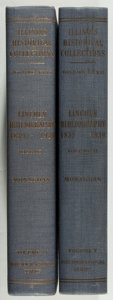 Books:Books about Books, Abraham Lincoln, [subject]. Jay Monaghan [editor]. Lincoln Bibliography 1839-1939. Springfield: Illinois State H... (Total: 2 Items)