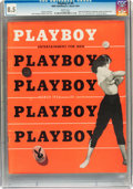Magazines:Miscellaneous, Playboy #4 (HMH Publishing, 1954) CGC VF+ 8.5 White pages....
