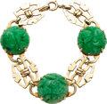 Estate Jewelry:Bracelets, Jadeite Jade, Gold Bracelet. ...