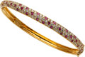Estate Jewelry:Bracelets, Diamond, Ruby, Gold Bracelet, Naina. ...