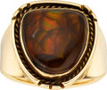 Estate Jewelry:Rings, Gentleman's Fire Agate, Gold Ring. ...