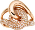 Estate Jewelry:Rings, Diamond, Pink Gold Ring. ...