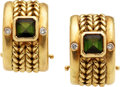 Estate Jewelry:Earrings, Tourmaline, Diamond, Gold Earrings, H. Stern. ...