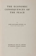Books:Business & Economics, John Maynard Keynes. The Economic Consequences of the Peace.London: Macmillan, 1919. First printing. Reginald...