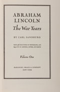 Books:Americana & American History, [Abraham Lincoln]. Carl Sandburg. Abraham Lincoln: The War Years. New York: Harcourt, Brace, [1939]. From the ... (Total: 4 Items)