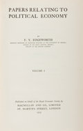 Books:Business & Economics, F. Y. Edgeworth. Papers Relating to Political Economy. Volume I-III. London: Macmillan, 1925. First printing. ... (Total: 3 Items)