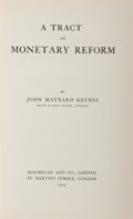 Books:Business & Economics, John Maynard Keynes. A Tract on Monetary Reform. London:Macmillan, 1923. First edition. From the James and Debor...