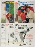 Books:Periodicals, Sports Illustrated. Group of ten various issues, five from1958 and five from 1962. Minor rubbing to covers with dam...