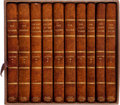Books:Literature Pre-1900, James Fenimore Cooper. Five First Editions of His Most Famous Works, Uniformly Bound, including: The Pioneers, or the So... (Total: 10 Items)