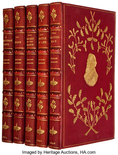 first edition set of his five - A Christmas Carol First Edition