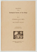 Books:Natural History Books & Prints, Ken Stott, Jr. Conspicuous Birds of the South Pacific. San Diego: Zoological Society of San Diego, 1943. First e...