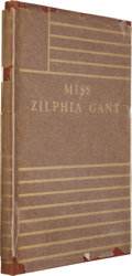 Books:Literature 1900-up, William Faulkner. Miss Zilphia Gant. Dallas: Book ClubTexas, 1932. First edition, one of 300 copies....