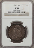 Bust Half Dollars: , 1817 50C XF45 NGC. NGC Census: (47/248). PCGS Population (75/261).Mintage: 1,215,567. Numismedia Wsl. Price for problem fr...