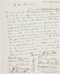 Autographs:Statesmen, [Sam Houston, Thomas H. Benton, et al.] [Mexican American War]:Manuscript Document Signed. [Washington]. Feb. 2, 1847. Appr...