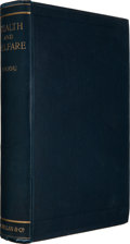 Books:Business & Economics, A[rthur] C[ecil] Pigou. Wealth and Welfare. London:Macmillan, 1912. First edition. Octavo. xxxi, 493, 2 pages of pu...