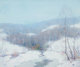 ERNEST ALBERT (American, 1857-1946) A White Winter's Blanket Oil on canvas 20 x 24 inches (50.8 x 61.0 cm) Signed lo
