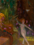 Fine Art - Painting, American, HOVSEP PUSHMAN (American, 1877-1966). The Dance (Salome), No.192. Oil on board. 7 x 5-1/4 inches (17.8 x 13.3 cm). Sign...