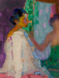 Fine Art - Painting, American, HOVSEP PUSHMAN (American, 1877-1966). Songs from India, No.191. Oil on board. 7 x 5-3/4 inches (17.8 x 14.6 cm). Signed...