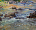 Fine Art - Painting, American:Modern  (1900 1949)  , ROBERT HOGG NISBET (American, 1879-1961). Trout Stream. Oilon canvas. 25 x 30 inches (63.5 x 76.2 cm). Signed lower rig...