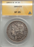 1893-O $1 VF25 ANACS. NGC Census: (68/1841). PCGS Population (97/2576). Mintage: 300,000. Numismedia Wsl. Price for prob...