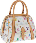 Luxury Accessories:Bags, Louis Vuitton White Monogram Multicolore Priscilla Bag. ... (Total:2 Items)