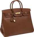 Luxury Accessories:Bags, Hermes 36cm Noisette Ardennes Leather Birkin Bag with GoldHardware. ...