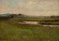 Fine Art - Painting, American:Antique  (Pre 1900), HERMAN WINTHROP PEIRCE (American, 1850-1935). RevereMarshes, 1884. Oil on canvas. 9-1/2 x 13-1/4 inches (24.1 x33.7 cm...