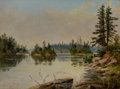 Fine Art - Painting, American:Antique  (Pre 1900), EDWARD ROPER (English/American, 1857-1891). From Bare Island,Stony Lake, Ontario, 1888. Oil on artists' board. 9-1/4 x ...