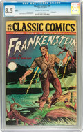 Golden Age (1938-1955):Horror, Classic Comics #26 Frankenstein HRN 30 (Gilberton, 1946) CGC VF+8.5 Off-white pages....