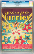 Golden Age (1938-1955):Miscellaneous, Crackajack Funnies #2 (Dell, 1938) CGC VF- 7.5 Cream to off-white pages....