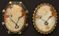 Estate Jewelry:Cameos, Two Shell Habille Cameos. ... (Total: 2 Items)