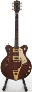 Musical Instruments:Electric Guitars, Circa 1973 Gretsch Country Gentleman Walnut Semi-Hollow BodyElectric Guitar, #5 3129....