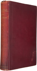 Books:Business & Economics, Karl Marx. Capital: A Critical Analysis of CapitalistProduction. New York: Humboldt, [1886]. First edition in E...
