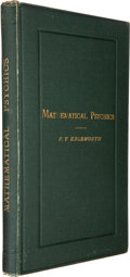 Books:Science & Technology, F. Y. Edgeworth. Mathematical Psychics. London: C. KeganPaul, 1881. First edition. Association copy. Fro...