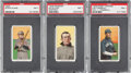 Baseball Cards:Lots, 1909-11 T206 White Borders Graded PSA NM 7 Trio (3). ...