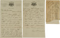 "Autographs:Others, 1911 ""Wahoo Sam"" Crawford Handwritten Signed Letter & Signed Mailing Envelope...."