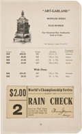 Baseball Collectibles:Others, 1907 Detroit Tigers Scrapbook with World Series Full Ticket & Team Photo Postcard....