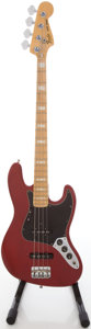 Musical Instruments:Bass Guitars, 1978-1981 Fender Jazz Bass Trans Red Electric Bass Guitar, #S854870....