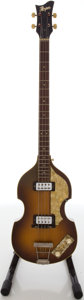 "Musical Instruments:Bass Guitars, Circa late 1960's Hofner 500/1 ""Beatle"" Sunburst Electric BassGuitar, #33153...."