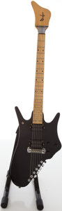 Musical Instruments:Electric Guitars, 1980's Bunker Black Solid Body Electric Guitar....